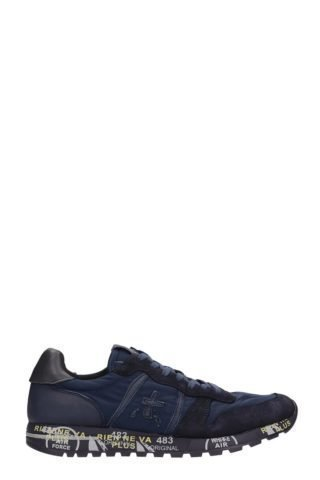 Premiata Premiata Eric Blue Leather And Fabric Sneakers (blauw)