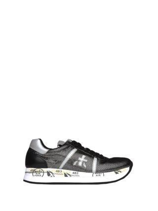 Premiata Conny 3342 Black And Nickel Sneakers (Overige kleuren)