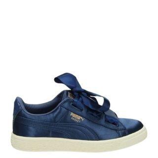 Puma Basket Heart Tween lage sneakers blauw