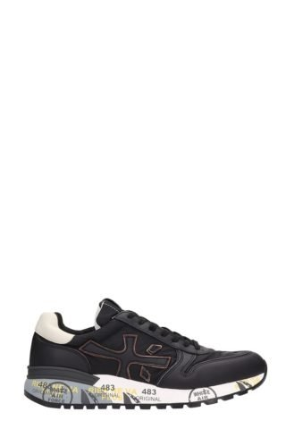 Premiata Premiata Mick Black Leather And Fabric Sneakers (zwart)