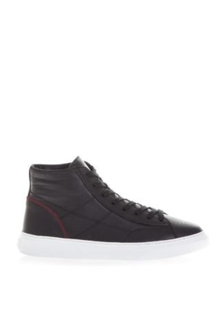Hogan Hogan Black H365 Sneakers In Leather (zwart)