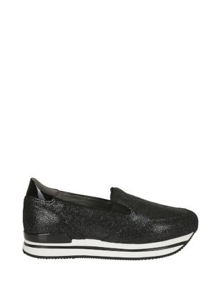 Hogan Hogan H222 Slip On Platform Sneakers (zwart)