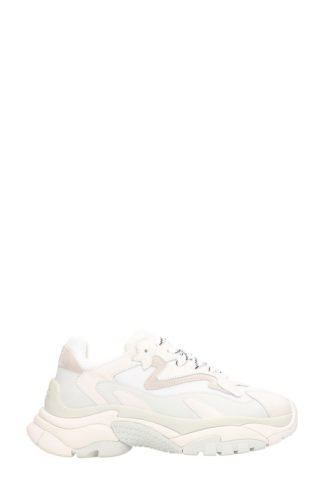 Ash Ash Atomic White Leather And Fabric Sneakers (wit)