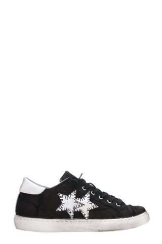 2Star 2Star Low Black Leather Sneakers (zwart)