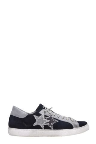 2Star 2Star Blue Suede Low Sneakers (blauw)