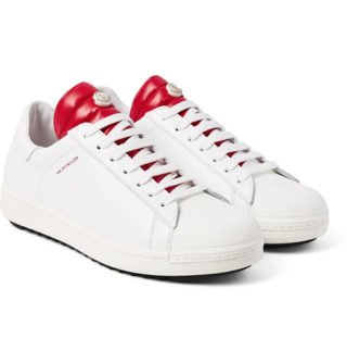 Moncler Joachim Quilted Shell And Leather Sneakers – White