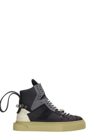 Gienchi Gienchi Hypnos 1000 Black Grey Leather And Suede (zwart)