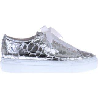 Agl Zilveren Sneakers Met Print