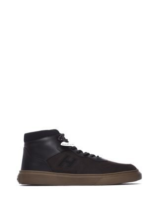 Hogan Hi-top Sneakers H365 Brown And Black (zwart)