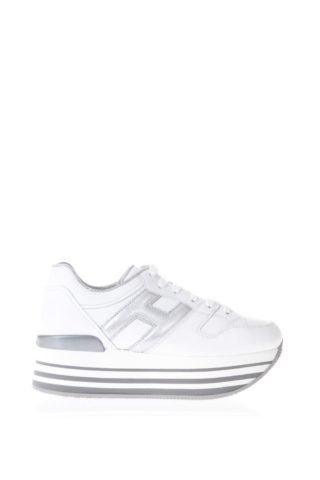 Hogan Hogan White Maxi H222 Leather Sneakers (wit)