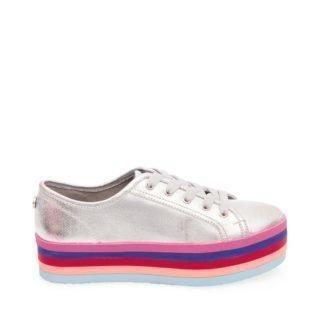 Steve Madden RAINBOW Platform sneakers Zilver dames