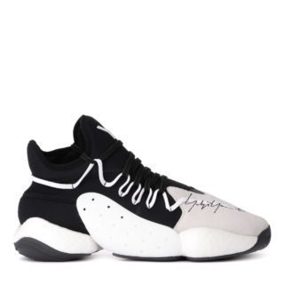 Y-3 Y-3 Byw Bball Black Neoprene And Grey Suede Sneaker (multicolor)