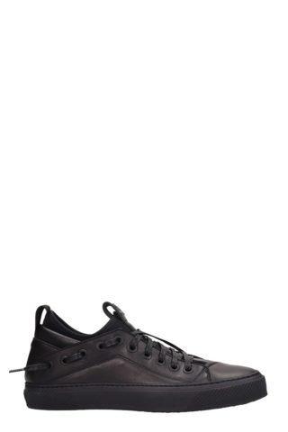 Bruno Bordese Bruno Bordese Triangular Black Leather Sneakers (zwart)