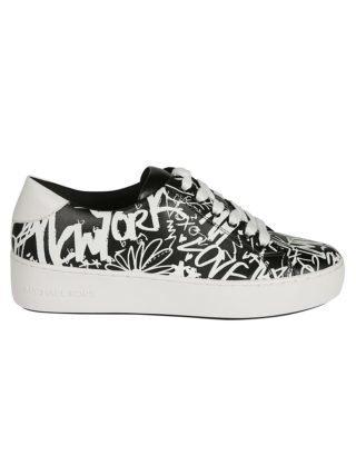 Michael Kors Michael Kors Printed Sneakers (wit/zwart)