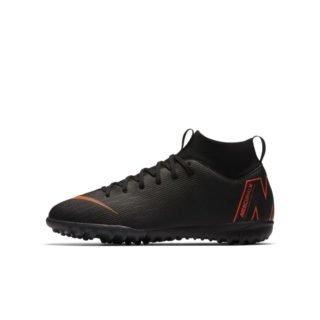 Nike Jr. MercurialX Superfly VI Academy Voetbalschoen voor kleuters/kids (turf) - Zwart Zwart