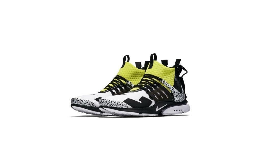 Nike Nike Air Presto Mid Utility x Acronym White / Black / Dynamic Yellow (AH7832-100)