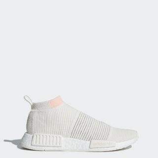 adidas NMD_CS1 Primeknit AQU88 (Cloud White / Cloud White / Clear Orange)
