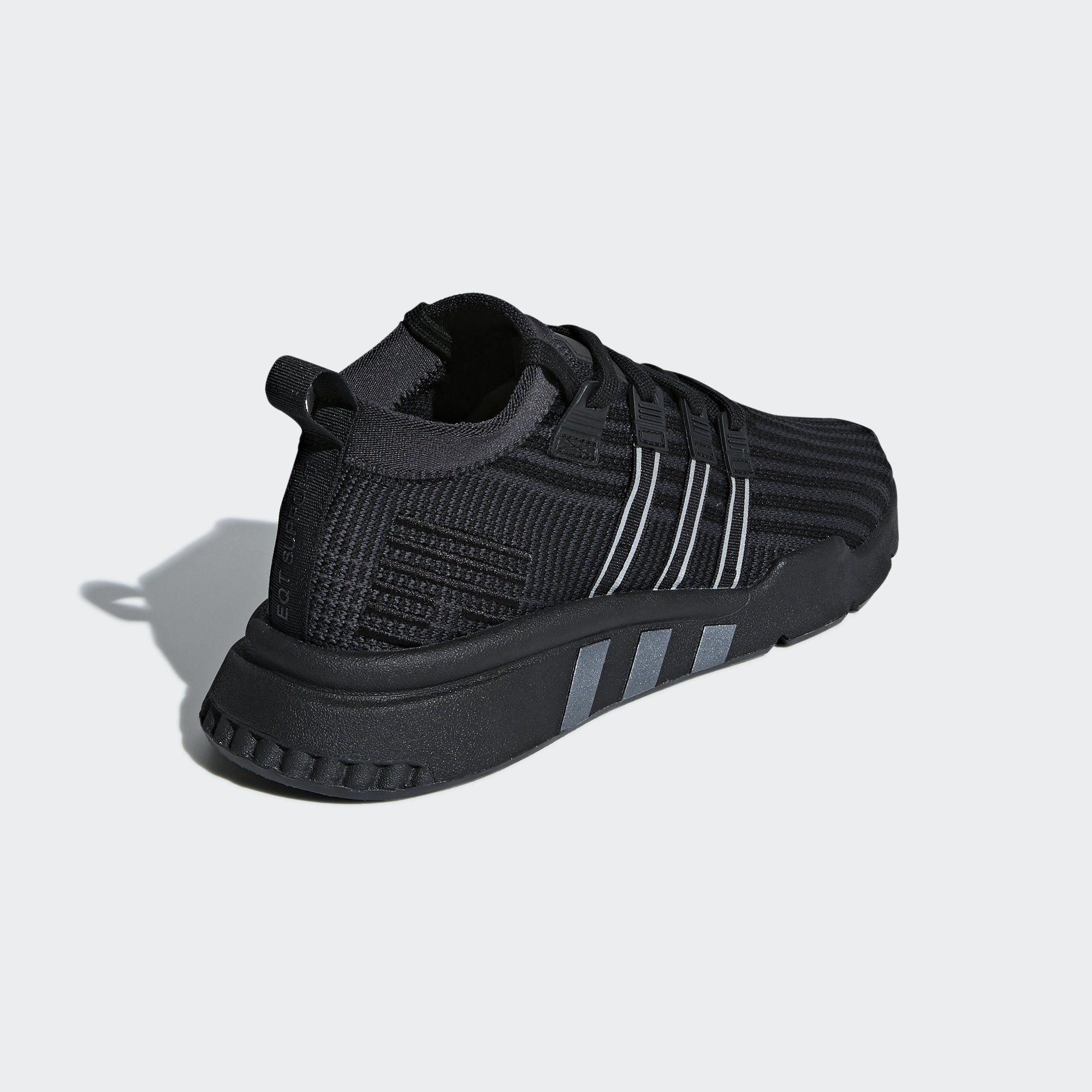 Adidas EQT Support Mid ADV Primeknit Core Black / Carbon / Solar Yellow (B37456)