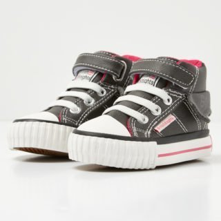 British Knights roco baby girls high-top sneaker (grijs)