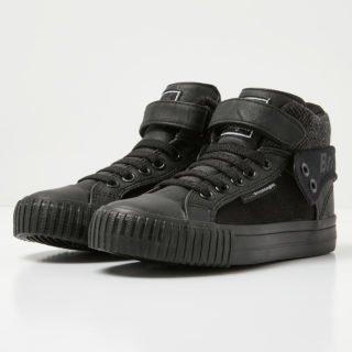 British Knights roco boys high-top sneaker (zwart)