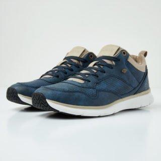 British Knights steel mid men's high-top sneaker (blauw)