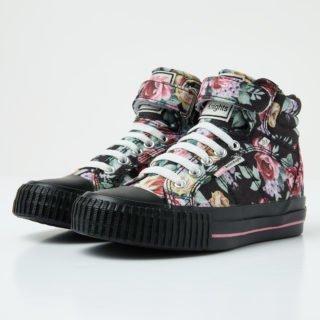 British Knights dee girls high-top sneaker (zwart)