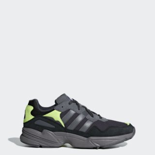 adidas Yung-96 DBK36 (carbon / grey four f17 / solar yellow)