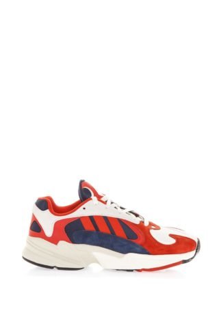 Adidas Originals Adidas Originals White & Red Yung 1 Sneakers In Mesh & Nubuck (rood/wit)
