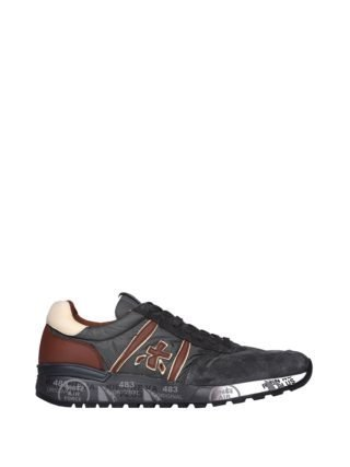 Premiata Lander 3243 Brown And Grey Sneakers (grijs)