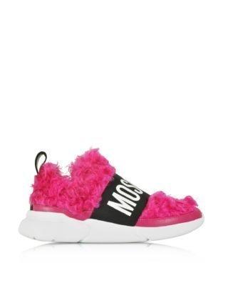 Moschino Moschino Fuchsia Mohair Women's Ettore Sneakers (paars)