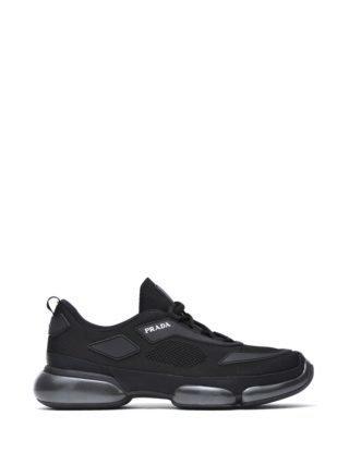 Prada Cloudbust Black Mesh Sneakers (zwart)