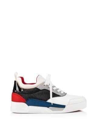 Christian Louboutin Aurelien Calf/glitter Diams Sneakers (multicolor)