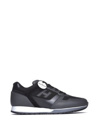 Hogan H321 Grey And Black Sneakers (zwart)