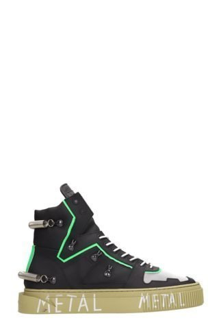 Gienchi Gienchi Hypnos 3.0 Black And Green Sneakers (zwart)