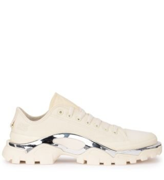Raf Simons Adidas By Raf Simons Detroit Runner Ivory Canvas Sneaker (wit)