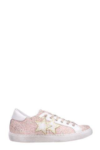 2Star 2Star Low Pink Glitter Sneakers (roze/roze)