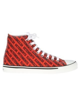 VETEMENTS Vetements High Sneaker (rood/zwart)
