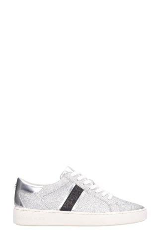 Michael Kors Michael Kors Keaton Silver Leather Sneakers (zilver)
