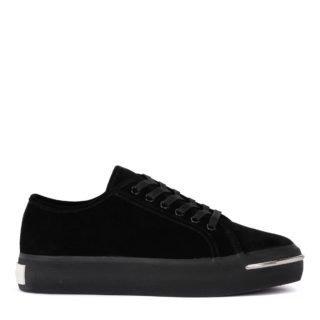 Alexander Wang Alexander Wang Pia Black Suede Sneaker (zwart)