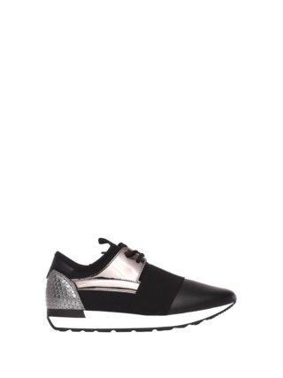 Pollini Black/silver Sneakers (zwart)