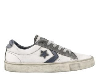 Converse Converse Pro Leather Sneakers (wit/blauw)