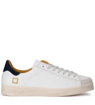 D.A.T.E. D.a.t.e. Twist Calf White Leather Sneaker (wit)