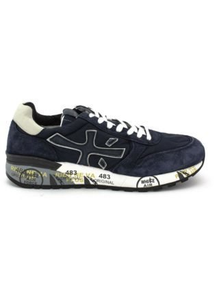 Premiata Mick Sneaker In Blue Suede Upper And Nylon. (Overige kleuren)