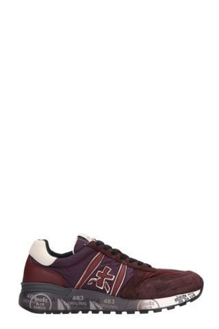Premiata Premiata Lander Bordeaux Leather And Fabric Sneakers (rood)