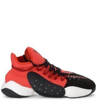 Y-3 Y-3 Byw Bball Red Neoprene And Black Suede Sneaker (multicolor)