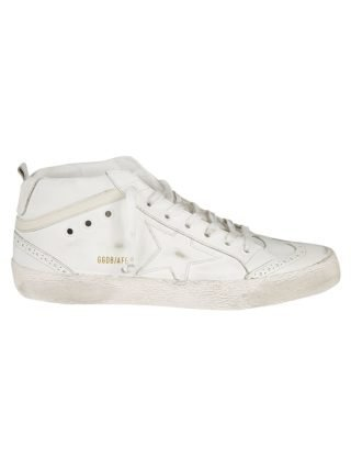 Golden Goose Golden Goose Mid Star Sneakers (wit/creme)