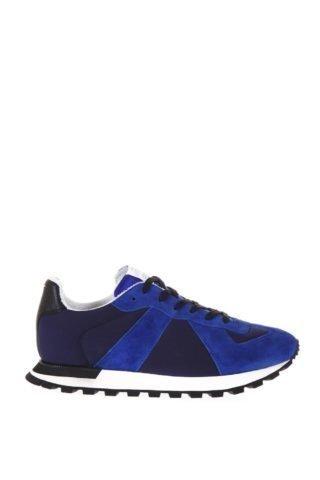 Maison Margiela Maison Margiela Blue Replica Runner Sneakers In Suede (blauw)
