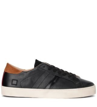 D.A.T.E. Sneaker D.a.t.e. Hill Low Calf Black Leather Sneaker (zwart)