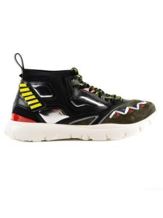 Valentino Garavani Valentino Garavani Heroes Reflex Hi-top Sneakers (zwart/groen/geel)