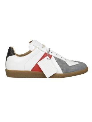 Maison Margiela Maison Margiela Paneled Sneakers (wit/grijs/rood)